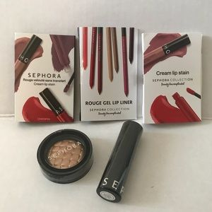BNIP Set of Sephora Lip & Eye Items (full & trial)